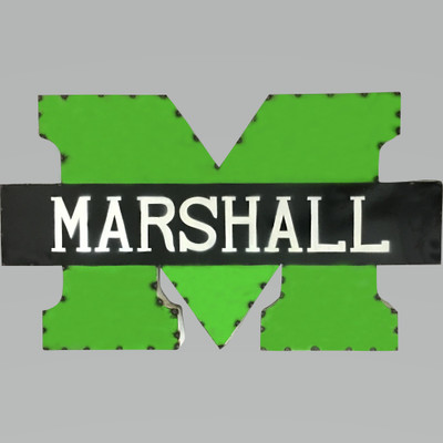 Marshall Thundering Herd Recycled Metal Wall Decor M | LRT SALES | MARSHMWD