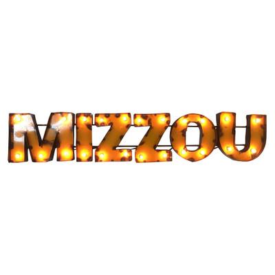 Missouri Tigers Recycled Metal Wall Decor Mizzou Illuminated   LRT SALES  MIZZOUWDLGT