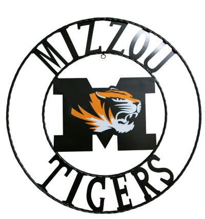 Missouri Tigers wrougth iron wall decor 18 | LRT SALES | MIZWRI18