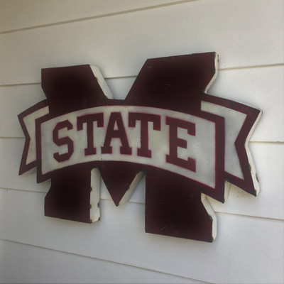 Mississippi State Bulldogs Recycled Metal Wall Decor M State | LRT SALES | MSTATEWD