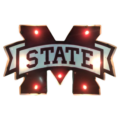 Mississippi State Bulldogs Recycled Metal Wall Decor M State | LRT SALES | MSTATEWDLGT