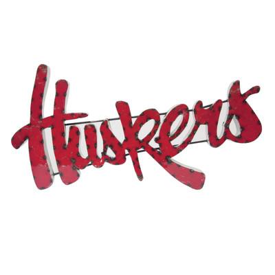 Nebraska Huskers Recycled Metal Wall Decor Huskers   lrt sales   HUSKERSWD