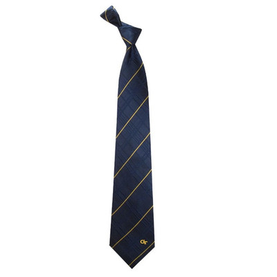 Georgia Tech Yellow Jackets Oxford Woven Silk Tie | Eagles Wings | 4855