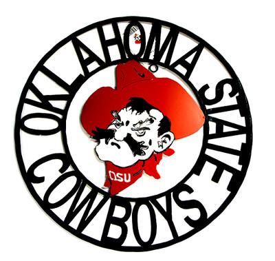 Oklahoma State Cowboys Wrought Iron Wall Decor 24 | LRT SALES | OKSWRI24