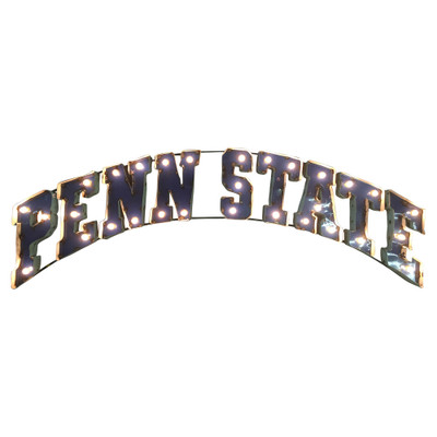 Penn State Nittany Lions Recycled Metal Wall Decor Illuminated | LRT SALES | PNSTWDLGT