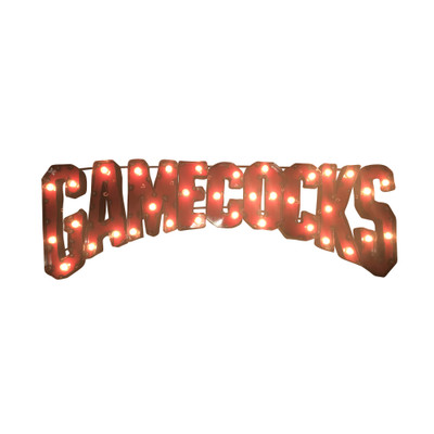 South Carolina Gamecocks Recycled Metal Wall Decor   LRT SALES   GAMECOCKSWDLGT