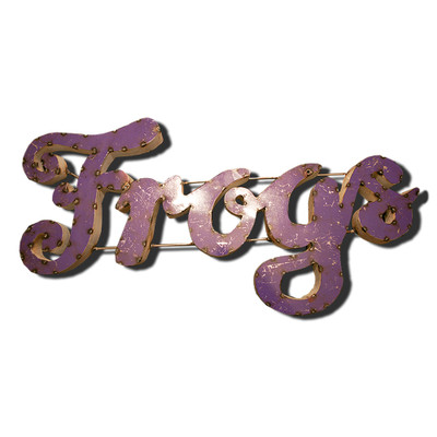 TCU Horned Frogs Recycled Metal Wall Decor Frogs | LRT SALES | FROGSPRWD
