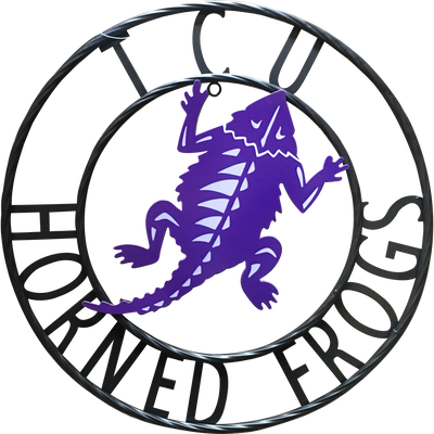 """TCU Horned Frogs Wrought Iron Wall Decor 24"""""""