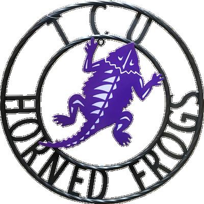 TCU Horned Frogs Wrought Iron Wall Decor| LRT SALES | TCUWRI18