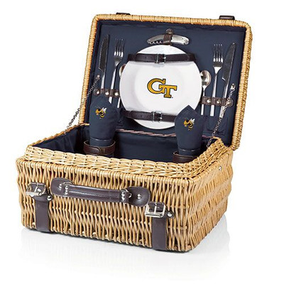 Georgia Tech Yellow Jackets Champion Picnic Basket | Picnic Time | 208-40-138-194-0