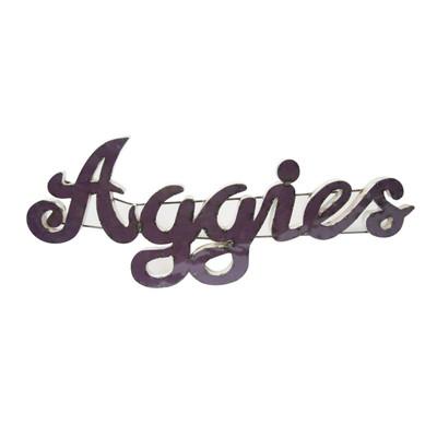 Texas A&M Aggies Recycled Metal Wall Decor Aggies | LRT SALES | AGGIESWD