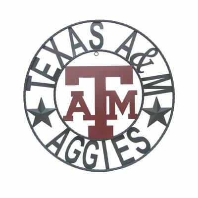 Texas A&M Aggies Wrought Iron Wall Decor | LRT SALES |A&MWRI24B