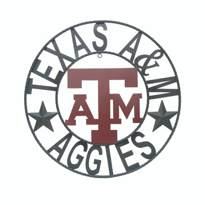 Texas A&M Aggies Wrought Iron Wall Decor | LRT SALES| A&MWRI18B
