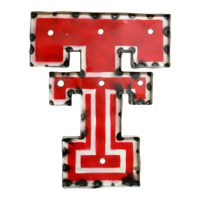 Texas Tech Red Raiders Recycled Metal Wall Decor TT | LRT SALES | DOUBLETWDLGT