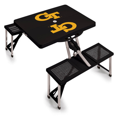 Georgia Tech Yellow Jackets Folding Picnic Table | Picnic Time | 811-00-175-194-0