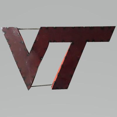 Virginia Tech Hokies Recycled Metal Wall Decor | LRT SALES | VTWD