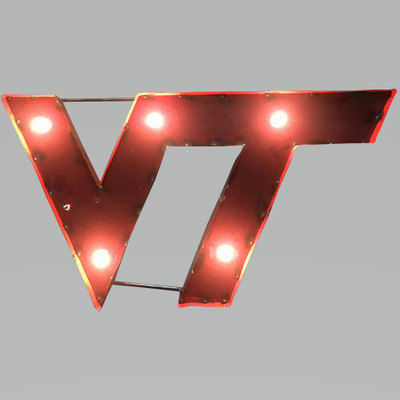 Virginia Tech Hokies Recycled Metal Wall Decor Illuminated | LRT SALES | VTWDLGT