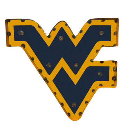 West Virginia Mountaineers Recycled Metal Wall Decor | LRT SALES | WVWDLGT