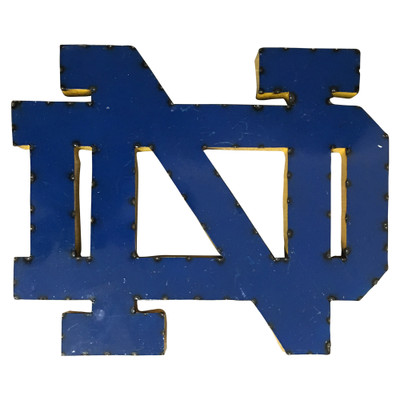 Notre Dame Fighting Irish  Recycled Metal Wall Decor | LRT SALES| NDWD