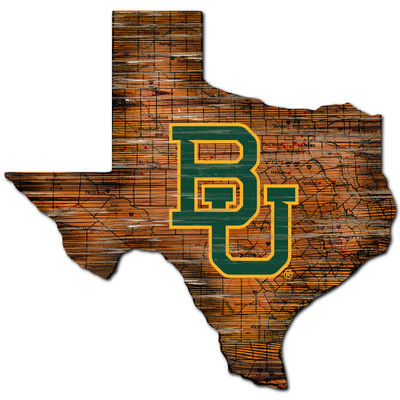 Baylor Bears Distressed State Wall Art |FAN CREATIONS |  C0728-Baylor