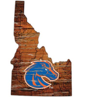 Boise State Broncos Distressed State Wall Art |FAN CREATIONS |  C0728-Boise State