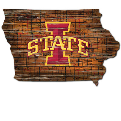 Iowa State Cyclones Distressed State Wall Art |FAN CREATIONS |  C0728-Iowa State
