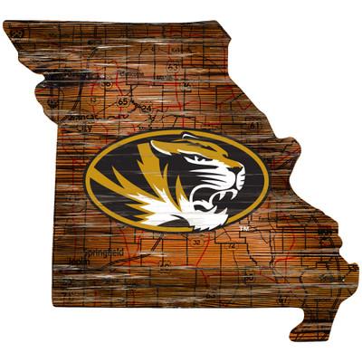 Missouri Tigers Distressed State Wall Art |FAN CREATIONS |  C0728-Missouri
