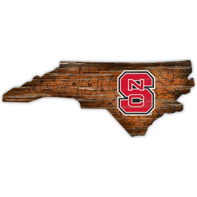 NC State Wolfpack Distressed State Wall Art |FAN CREATIONS |  C0728-NC State