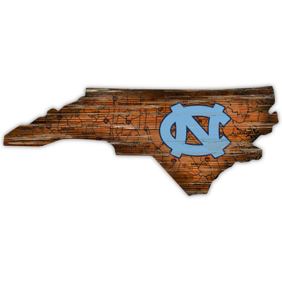 UNC Tar Heels Distressed State Wall Art |FAN CREATIONS |  C0728-North Carolina
