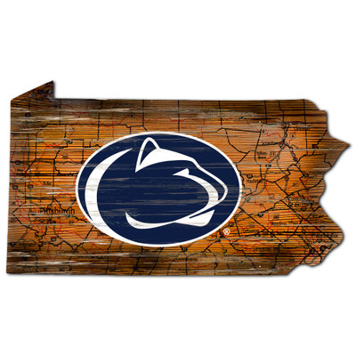 Penn State Nittany Lions Distressed State Wall Art |FAN CREATIONS |  C0728-Penn State