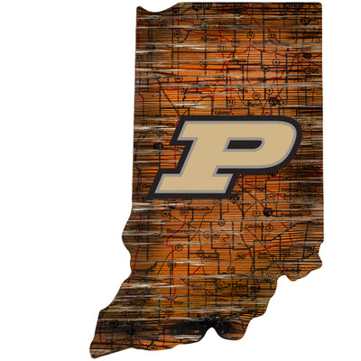 Purdue Boilermakers Distressed State Wall Art |FAN CREATIONS |  C0728-Purdue