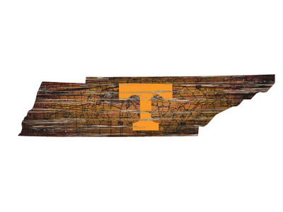 Tennessee Volunteers Distressed State Wall Art |FAN CREATIONS |  C0728-Tennessee