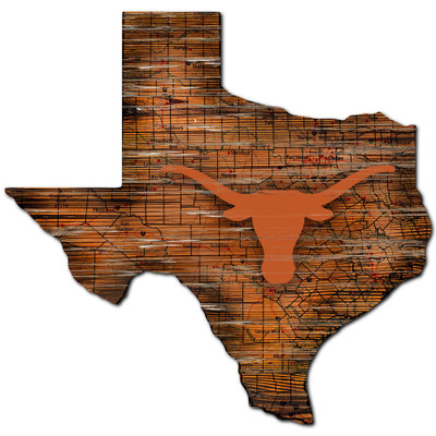 Texas Longhorns Distressed State Wall Art |FAN CREATIONS |  C0728-Texas