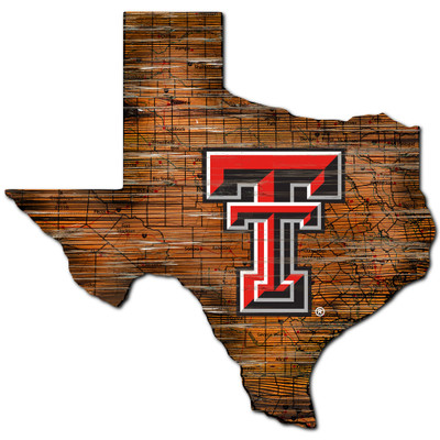 Texas Tech Red Raiders Distressed State Wall Art |FAN CREATIONS |  C0728-Texas Tech