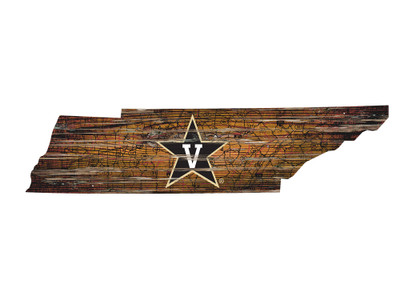 Vanderbilt Commodores Distressed State Wall Art |FAN CREATIONS |  C0728-Vanderbilt