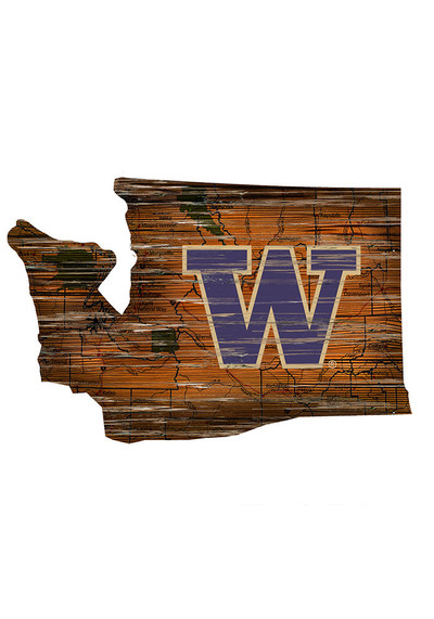 Washington Huskies Distressed State Wall Art | FAN CREATIONS | C0728-WASHINGTON