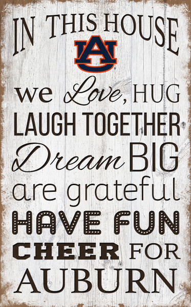 Auburn Tigers In This House Wall Art |FAN CREATIONS | C0976-Auburn