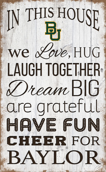 Baylor Bears In This House Wall Art |FAN CREATIONS | C0976-Baylor