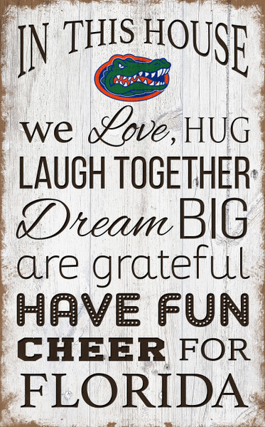 Florida Gators In This House Wall Art |FAN CREATIONS | C0976-Florida