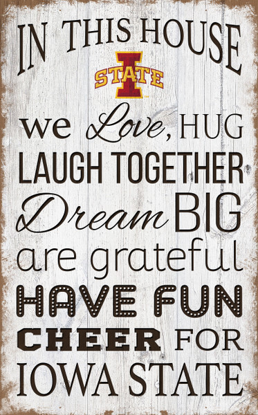 Iowa State Cyclones In This House Wall Art |FAN CREATIONS | C0976-Iowa State
