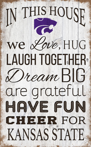 Kansas State Wildcats In This House Wall Art |FAN CREATIONS | C0976-Kansas State