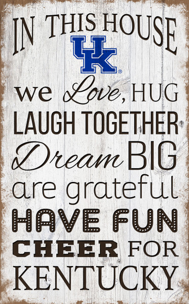Kentucky Wildcats In This House Wall Art |FAN CREATIONS | C0976-Kentucky