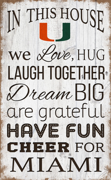 Miami Hurricanes In This House Wall Art |FAN CREATIONS | C0976-Miami