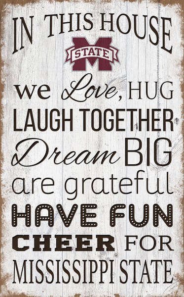 Mississippi State Bulldogs In This House Wall Art |FAN CREATIONS | C0976-Mississippi State