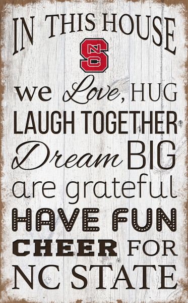 NC State Wolfpack In This House Wall Art |FAN CREATIONS | C0976-NC State