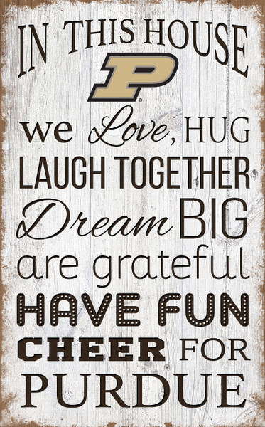 Purdue Boilermakers In This House Wall Art |FAN CREATIONS | C0976-Purdue