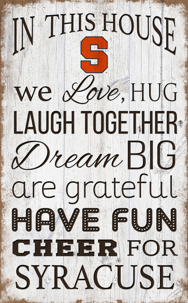 Syracuse Orange In This House Wall Art |FAN CREATIONS | C0976-Syracuse