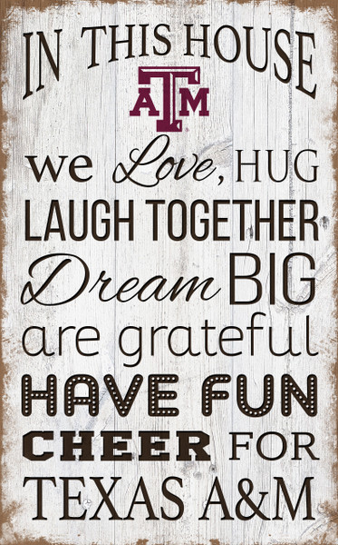 Texas A&M Aggies In This House Wall Art |FAN CREATIONS | C0976-Texas A&M