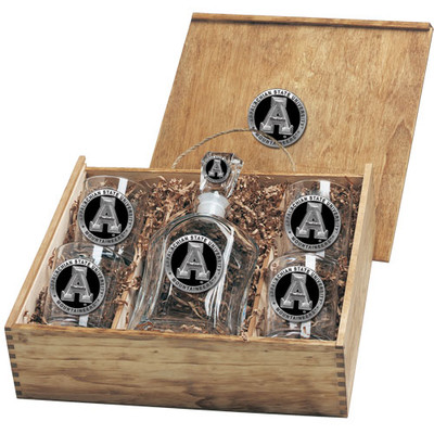 Appalachian State Mountaineers Capitol Decanter Box Set | Heritage Pewter | CPTB10325EK