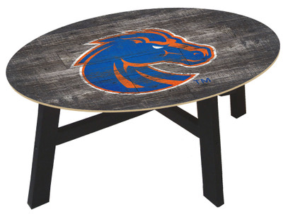 Boise State Broncos Distressed Wood Coffee Table |FAN CREATIONS | C0811-Boise State